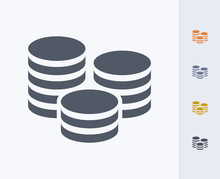 Coin Stack - Carbon Icons A Pr...