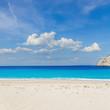 Navagio Shipwreak white sand beach of Zakinthos island, Greece