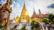 Leinwanddruck Bild - Wat Phra Kaew, Temple of the Emerald Buddha, Grand Palace, Bangkok, Thailand