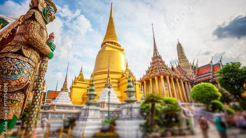 Spoed Foto op Canvas Bangkok Wat Phra Kaew, Temple of the Emerald Buddha, Grand Palace, Bangkok, Thailand
