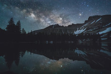 Milky Way Reflected In Mountai...