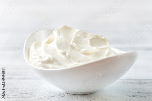 Bowl of Greek yogurt