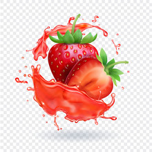 Strawberry Realistic Juice Fre...