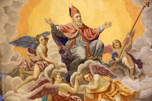 Foto Saint-Nicolas, évêque de Myre, monte au ciel