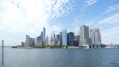 Foto op Aluminium New York Manhattan skyline from the sea