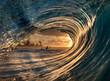 canvas print picture - sunrise wave 1
