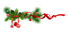 Winter Christmas Fir Tree Decoration