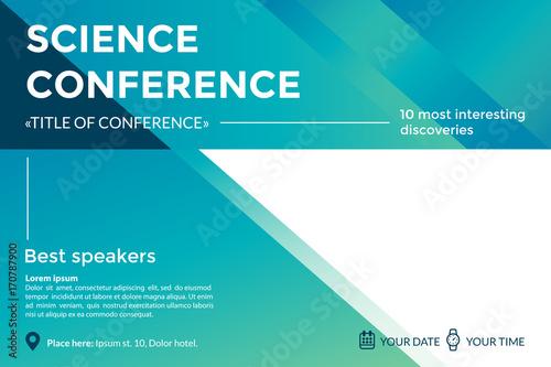 Science Conference Invitation Concept Advertising Of Scientific