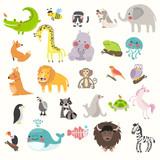Fototapeta Fototapety na ścianę do pokoju dziecięcego - Illustration drawing style set of wildlife