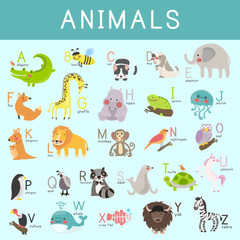 Illustration drawing style set of wildlife