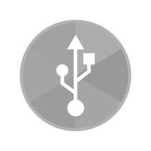 Kreis Icon - USB-Symbol