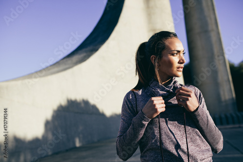 Healthy young woman in morning