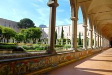 Santa Chiara Cloister, Naples,...