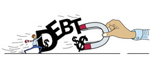 Struggle For Money Of Debt Con...