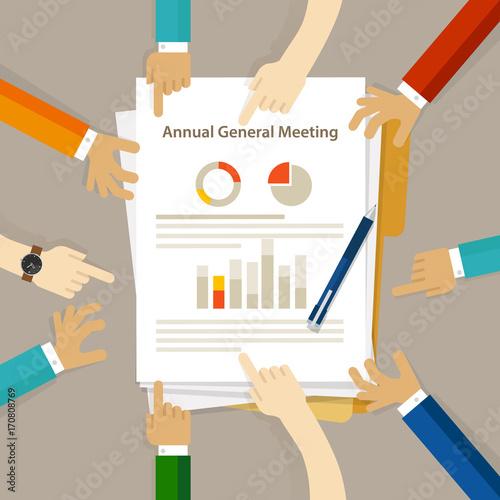 Pinturas sobre lienzo  AGM Annual General Meeting shareholder board discuss company review financial pr