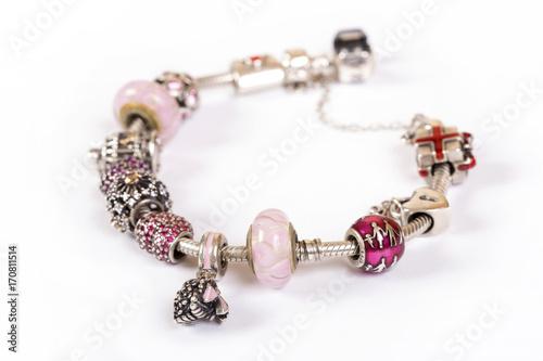 Fotografía  Silver charm bracelet