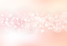 Abstract Blurred Soft Focus Bokeh Of Bright Pink Color Background Concept, Copy Space, Vector Illustration
