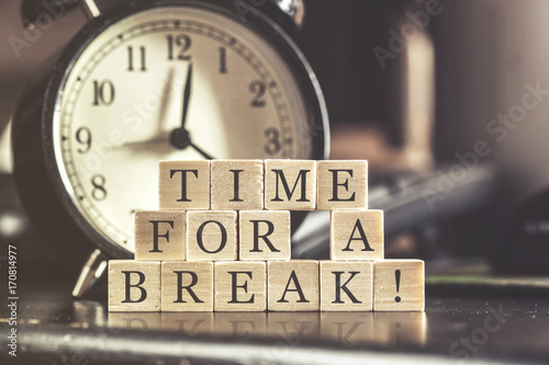 Obraz Time for a break concept - fototapety do salonu