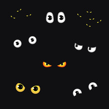 Set Of Funny And Evil Eyes In ...