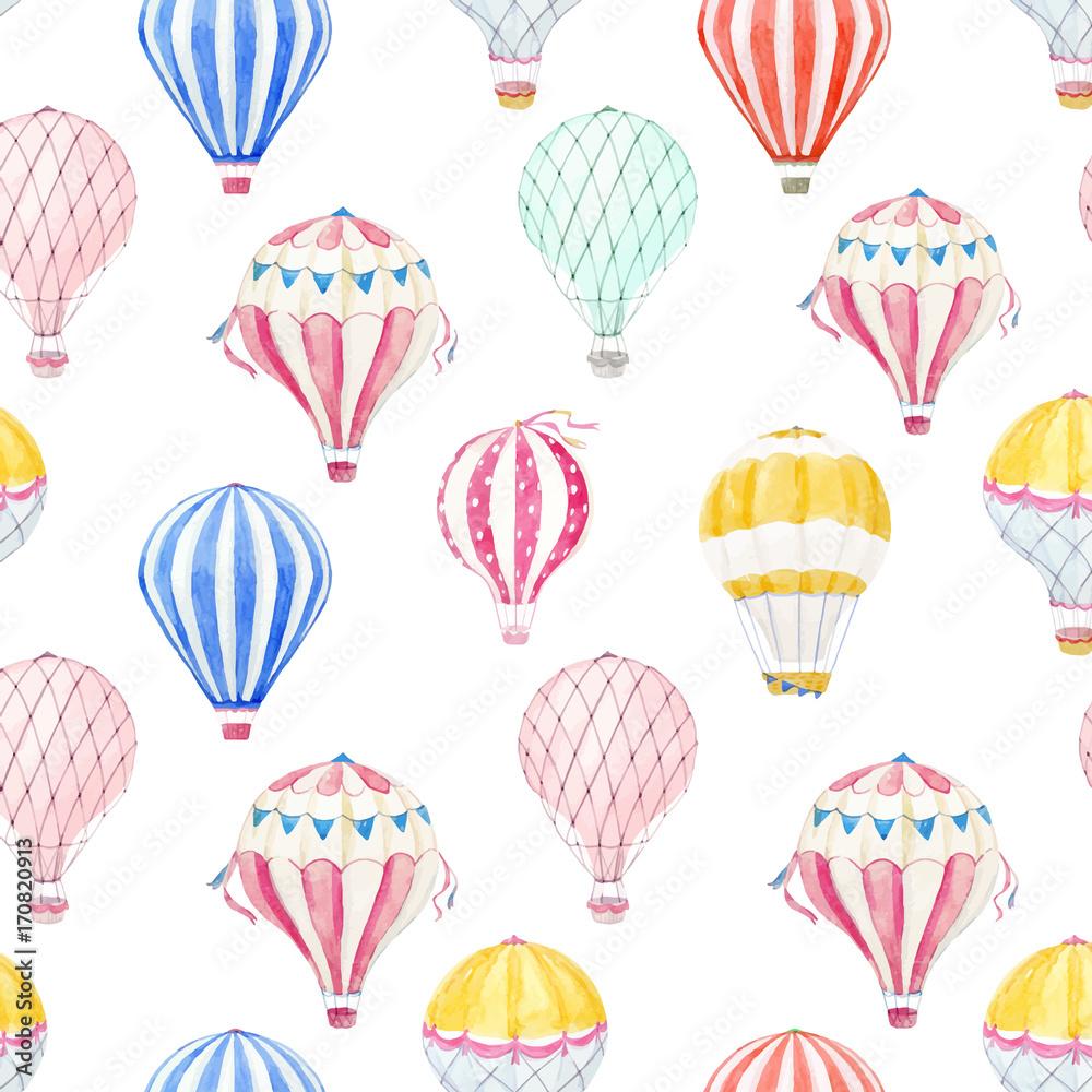 Akwarela powietrze balon wektor wzór <span>plik: #170820913 | autor: zenina</span>