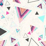 Streszczenie trójkąt akwarela bezszwowe wzór. - 170821575