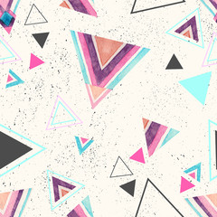 FototapetaAbstract watercolor triangle seamless pattern.