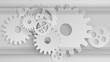 Gears mechanism. Industrial grey background Vector illustration