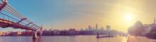 London, Panorama Of Thames Riv...