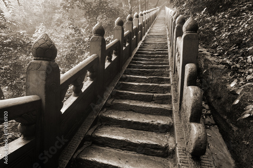 Photographie  stairs in the Wudangshan mountains