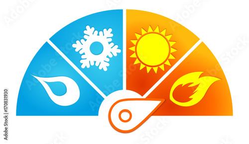 Canvas Print symbole climatisation
