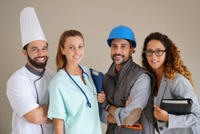 Young Adults With Different Occupations