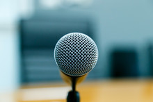 Close-up Of Microphone In Conc...