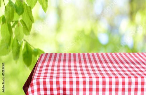 Keuken foto achterwand Picknick Empty table background