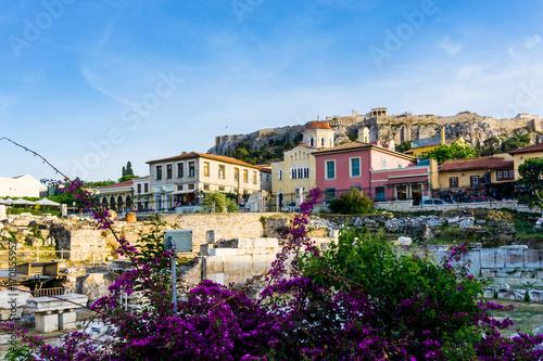 Zdjęcie XXL Uliczny widok starzy budynki w Ateny, Grecja