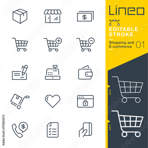 Photo Lineo Editable Stroke - Shopping and E-commerce line icons Vector Icons - Adjus