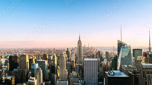 Fototapety, obrazy: Aerial view on the city skyline in New York City, USA