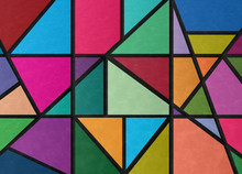 Textured Stained Glass Illustr...