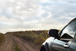 SUV on rough terrain