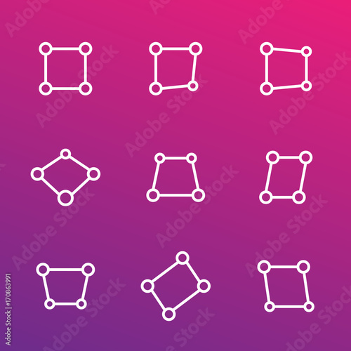 Fotografie, Obraz  perspective vector icons