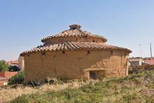 Old Dovecote In Valdunquillo, Tierra De Campos, Valladolid Province,Castilla Y Leon, Spain