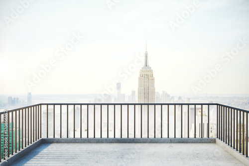 Fotografie, Obraz  Balcony with copy space