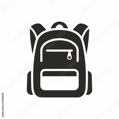 Fototapeta Backpack icon obraz
