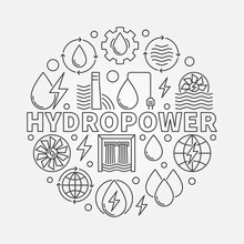 Hydropower Round Illustration