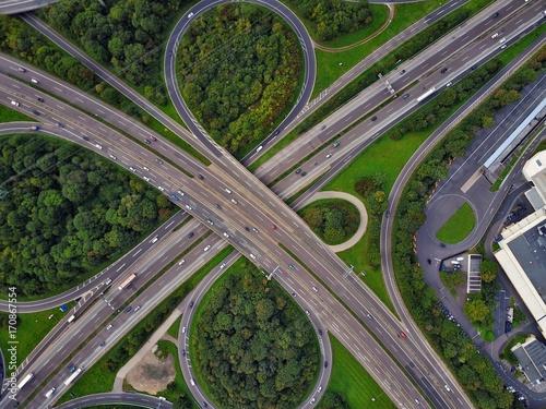Autobahn aus der Luft