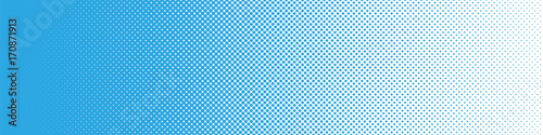 Seamless Screentone Graphics_Halftone Gradation_Blue