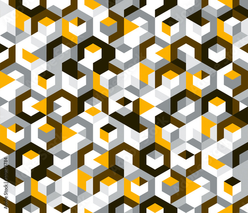 sześciokątny żółty powtarzalny