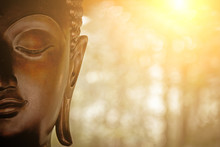 The Head Of Buddha Statue.