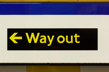 Way Out Sign In London Underground Station