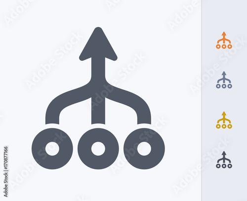 Fotografie, Obraz  Merged Arrows - Carbon Icons