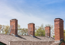 Four Chimneys With Individual ...